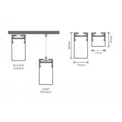Sıva Üstü Lineer Aydınlatma - LN20