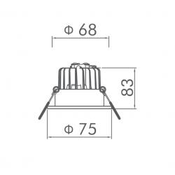 Sıva Altı Led Spot - FTD Serisi